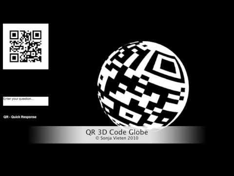QR Code 3D Globe - earth's rotation animation