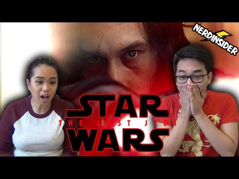 STAR WARS EPISODE 8 THE LAST JEDI OFFICIAL TEASER TRAILER REACTION