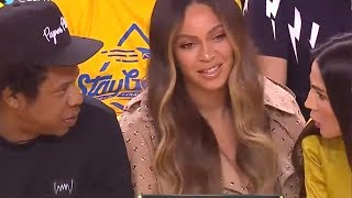 Beyonce's Reaction to a Woman Talking to JAY-Z Is a Must-See