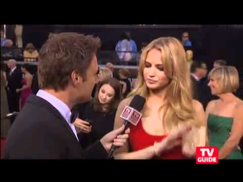 Jennifer Lawrence In A Sexy Hot Red Dress At The 2011 Oscars video