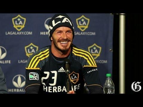 L.A. Galaxy's David Beckham at Olympic Stadium