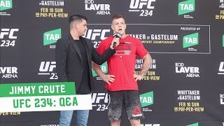 UFC 234 Open Workouts: Jimmy Crute Q&A