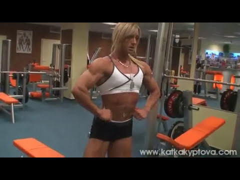 Katka Kyptova - workout clip 2010 -  Back workout