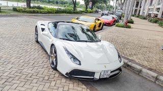 Cuong Dollar And 5 Lamborghini INSANE Accelerations, LOUD Sound In Saigon | XSX