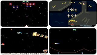 TOP 5 Space Ship Shooter Arcade Games - Galaga, Cosmic Defender, Raiden, Space Ship, R-Type, Varth