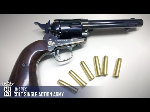 * Air Gun Review * Umarex Colt Single Action Army CO2 4.5mm    Deutsch - English Subtitle