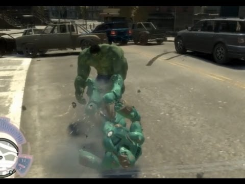 Iron Man IV vs. HULK - GTA iV - JulioNIB scripts battle