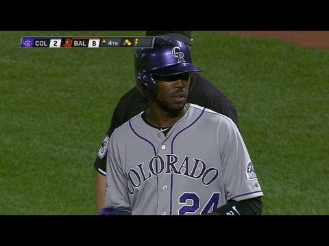 COL@BAL: Fowler lines a base hit to score Blackmon