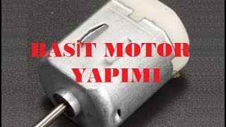 BASİT ELEKTRİK MOTORU NASIL YAPILIR? (HOW TO MAKE A SIMPLE ELECTRICITY MOTOR)