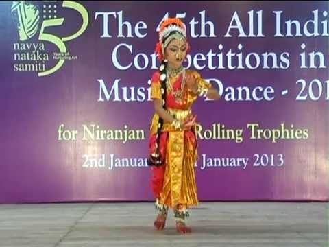 All India First Prize Winner N.R.Tavishi Sai - Kuchipudi Mandodari Sabdam