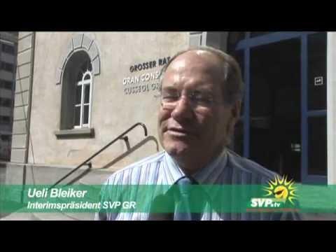 Medienkonferenz nach Ausschluss der SVP Graubünden 2008