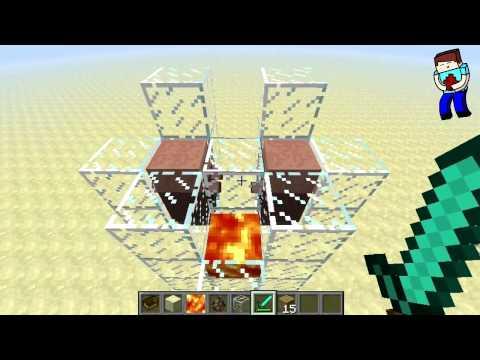 [Minecraft] Урок 53: ЛАЗЕР В Minecraft 1.2.5! (Без модов и тд.)