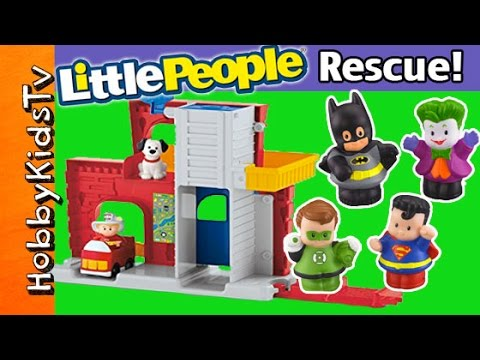 Little People FIRE STATION with Batman and Superman