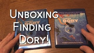 FINDING DORY - Unboxing the Ultimate Collector's Edition 3D Blu-ray + Bluray + DVD Edition
