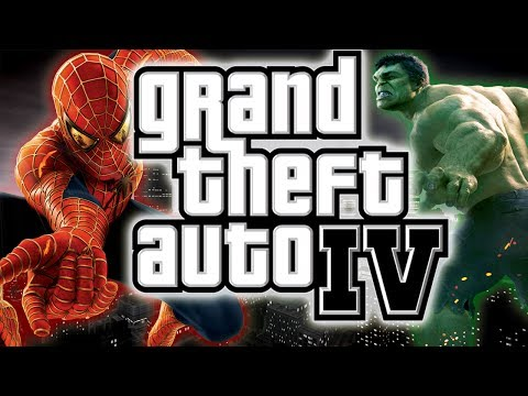 GTA 4: Spiderman MOD VS HULK ! GTA 4: Spiderman in GTA 4 !