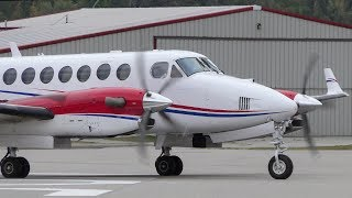 Beechcraft King Air 350 Turboprop Engine Startup and Takeoff