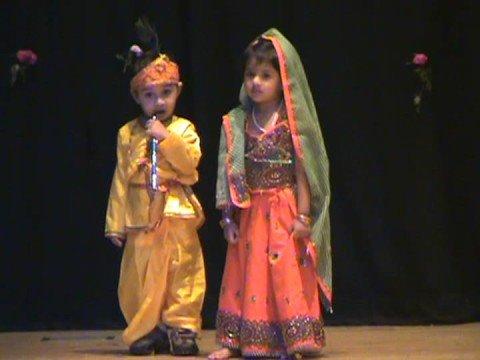 Fancy Dress Radha Amp Krishna By Yash Amp Ria Youtube