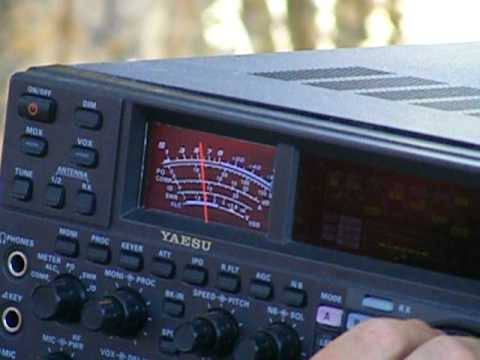 the ham radio club in treasure valley field day with a yaseau [t2