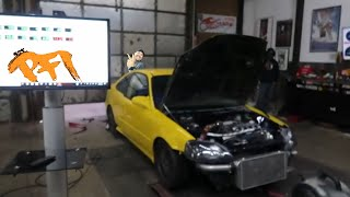 Turbo D series Head Gasket Fail! Part 1 MotionAutoTv dyno