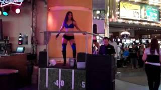 HOOCHIE COOCHIE DANCER IN DOWNTOWN LAS VEGAS, NV  10/08/10