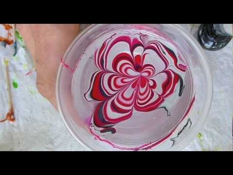 How to do a SUGAR FLOWER MARBLING on your nails