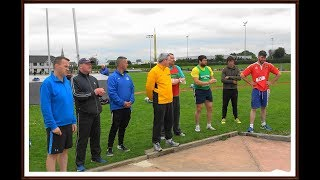 Snr. & Master Men's Shot Put at the 2018 Munster T & F Championships ...Video by Jerry Walsh