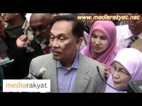 Anwar Ibrahim Gives His Statement On The Sex Video Issue At IPD Dang Wangi 28/04/2011