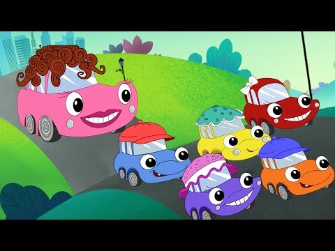 Five Little Cars Song Faster + Baby Red Car Wash + Monster Tow Truck + More Songs by Fun For KidsTV