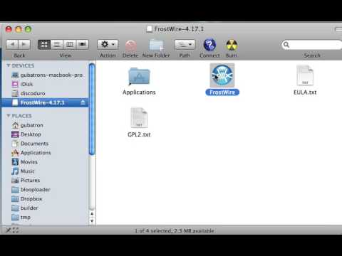 how to install frostwire 4 17 on macosx 10 5