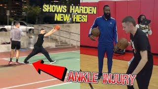 Professor Shows James Harden New Stepback.. 5v5 w/ Tristan Jass but SCARY ankle injury but EPIC DAY
