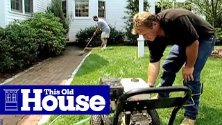 How to Powerwash a Walkway - This Old House