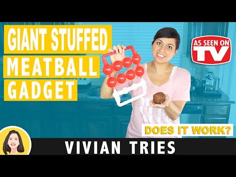 GIANT STUFFED MEATBALLS   MIGHTY MEATBALL REVIEW   TESTING AS SEEN ON TV PRODUCTS   VIVIAN TRIES
