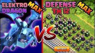 Download Lagu Elektro Dragon MAX vs Semua DEFENSE TH 12 MAX!! - Coc Indonesia Gratis STAFABAND