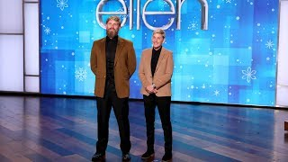 Ellen Recruits Her Stunt Double After Hurting Herself