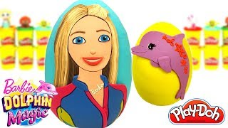 Huevos Sorpresa de Barbie y los Delfines Mágicos en Español Plastilina Play Doh