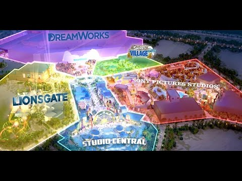 Motiongate Dubai Theme Park Attraction & Ride Preview! Dreamworks! Hunger Games! Roller Coasters!