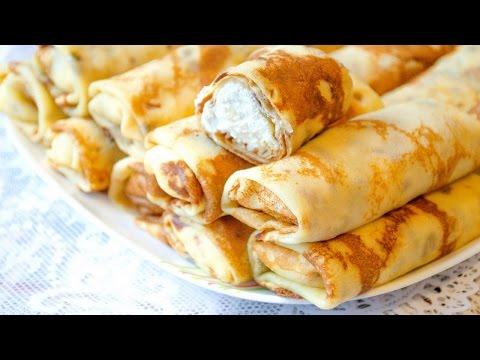Как запечь блинчики с творогом. | How to bake pancakes with cottage cheese.