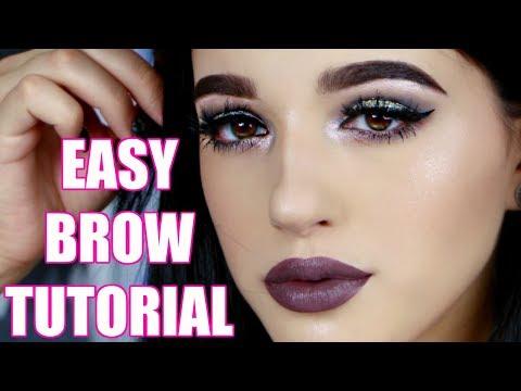 EASY BROW TUTORIAL/ROUTINE | Jordan Byers