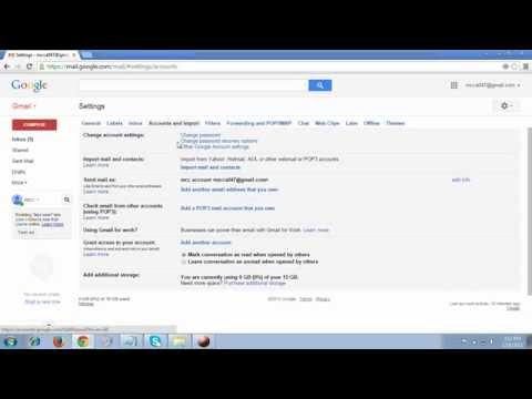 Reset your Gmail Account Password 2015