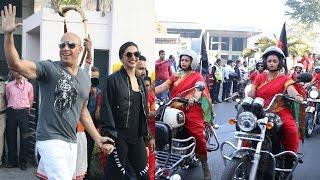 Grand Maratha Welcome For Deepika & Vin Diesel In India - xXx Promotion