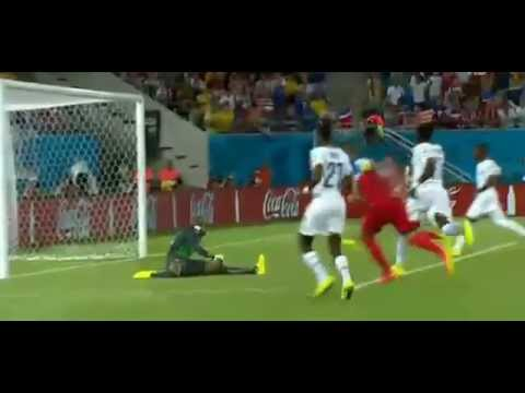 the fastest goal of the World Cup 2014 USA vs ghana  Clint Dempsey Goal