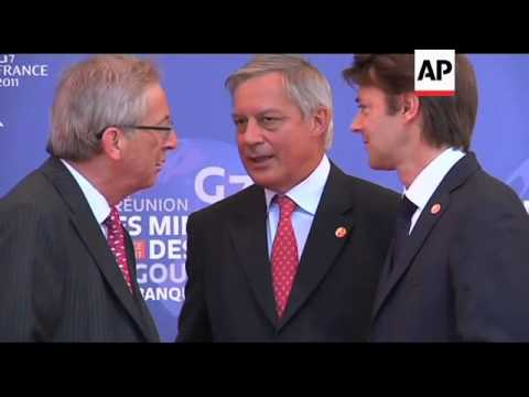 G7 FMs gather for talks amid financial crisis, AP pix