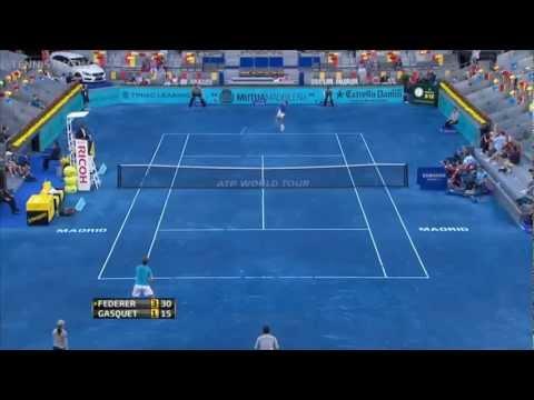 Madrid 2012 3e Ronde - Roger Federer vs Richard Gasquet