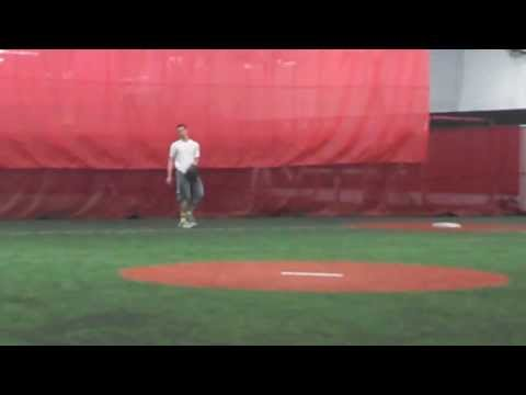 Nick Perez (2015 SS, The Hun School of Princeton)--Fielding (2/1/2014)