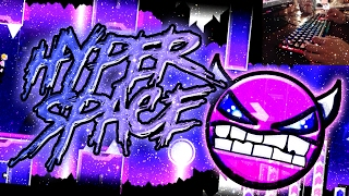 "[Liveplay keyboard] Hyper Space (Demon) by LazerBlitz - ""Geometry Dash"""