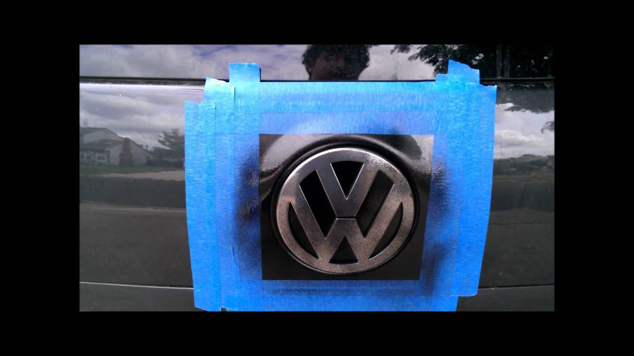 Plasti Dip Badges Emblems Car How To Youtube