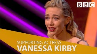 Vanessa Kirby wins Best Supporting Actress - The British Academy Television Awards 2018 - BBC One