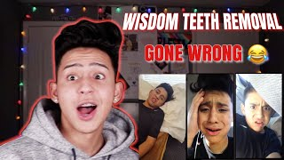REACTING TO MY WISDOM TEETH VIDEOS | ALEX GUZMAN