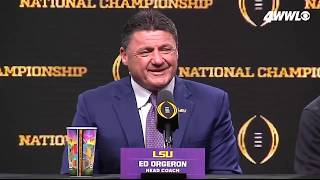 "LSU hype video: How Ed Orgeron got Dwyane ""The Rock"" Johnson"