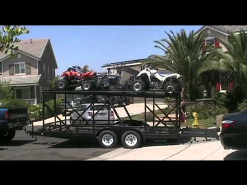 Double Deck Stacker Utility Trailer Youtube